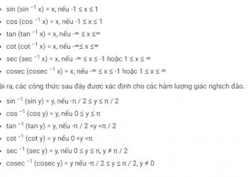 Tính chất của hàm lượng giác ngược là gì? Xem xong 5 phút hiểu luôn.
