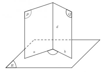 Lý thuyết của hai mặt phẳng vuông góc