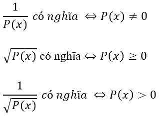 Tập xác định của hàm số Toán lớp 10