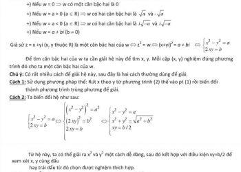 Công thức số Phứcchi tiếtvà các dạng toán số phứctương tác