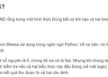 Sự khác biệt giữa 'and' và '&' trong Python