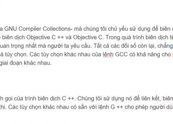 Sự khác biệt giữa GCC và G ++